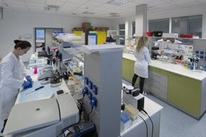 A molecular biology laboratory at Comenius University in Bratislava.