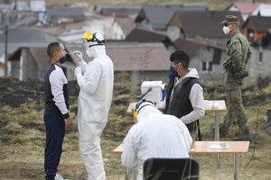 Testing in the marginalised Roma communities in eastern Slovakia.