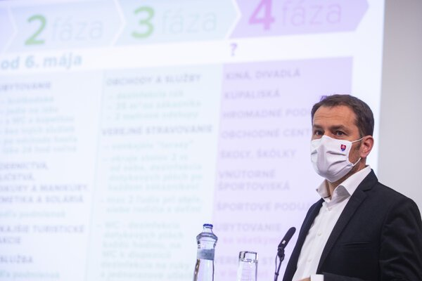 PM Igor Matovič while introducing the further liberation of coronavirus measures.
