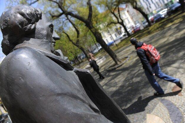 The Hans Christian Andersen statue in Bratislava.