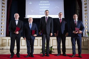 The five best Slovak scientists are announced on June 16, 2020, in Bratislava.