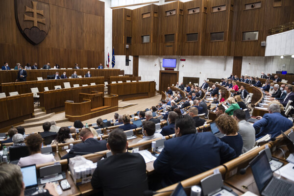 MPs vote on bills in the parliament on July 14, 2020.