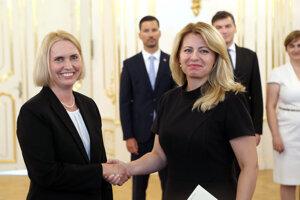 Ambassador Brink and President Zuzana Čaputová