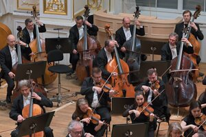 The Slovak Philharmonic Orchestra plays a concert in Bratislava.