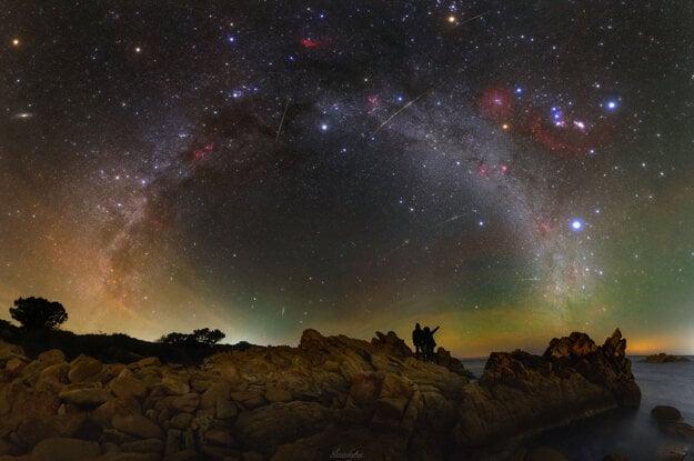 A Night Sky Vista from Sardinia