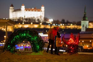 The White Night Festival takes place in Bratislava during Christmas.
