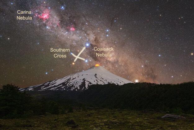 The Villarrica volcano in Chile.