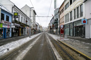 Empty Obchodná Street in Bratislava