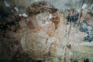 Frescoes in the Kameňany church.