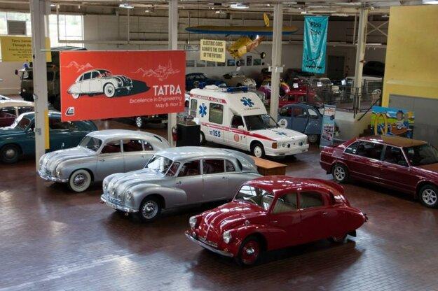 Tatra vehicles, produced in Czechoslovakia, on display at Lane Motor Museum in Nashville, TN, USA.