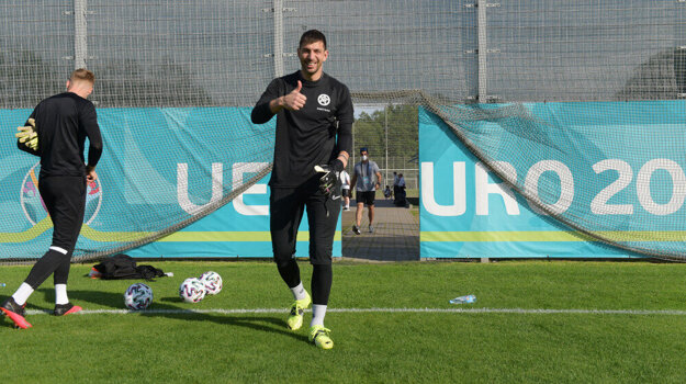 Slovak goalkeeper Dušan Kuciak.