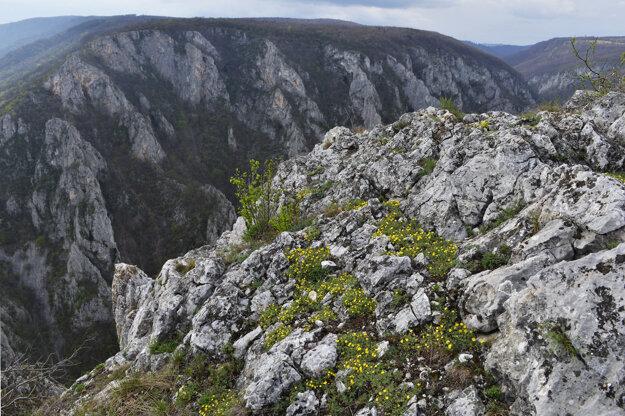 The Zádielska tiesňava narrow passage near Moldava nad Bodvou, eastern Slovakia.