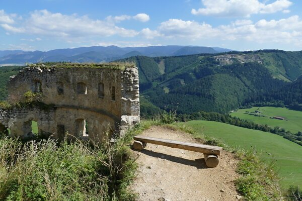 A view from Lietava Castle in the Rajec Valley.
