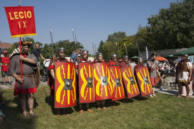 Roman legionnaires attend the Roman Games at the Gerulata military camp in Rusovce, Bratislava.