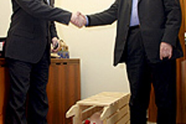Smer boss Fico and HZDS leader Mečiar are tied within a ruling coalition.