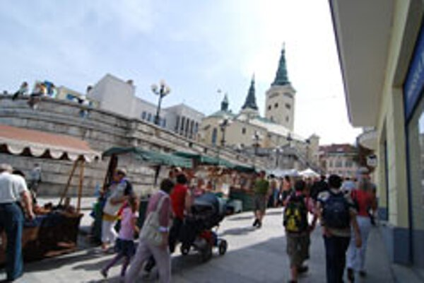 The streets of Žilina were filled with revellers and handicraftsmen.
