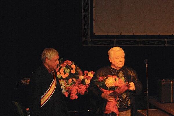 Osvald Zahradník (left) with Oleg Tabakov .