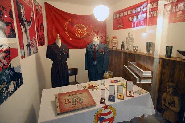 This exhibit recalls Slovakia's communist past.