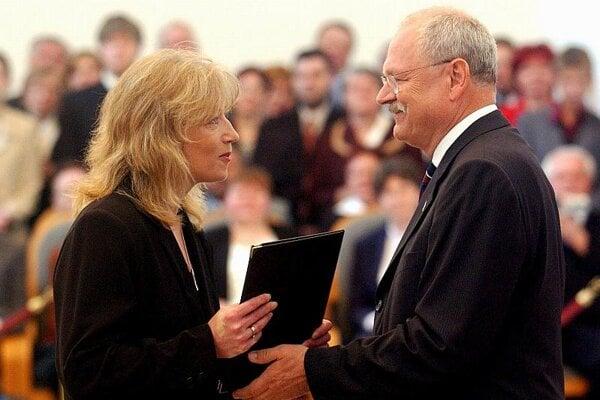 Iveta Radičová and Ivan Gašparovič.