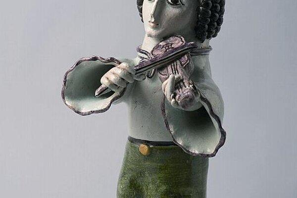 Violin Player by Jozef Franko