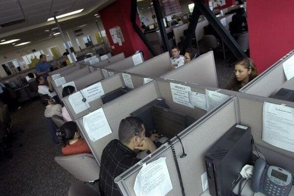 Cheaper than door-to-door sales: a call centre.