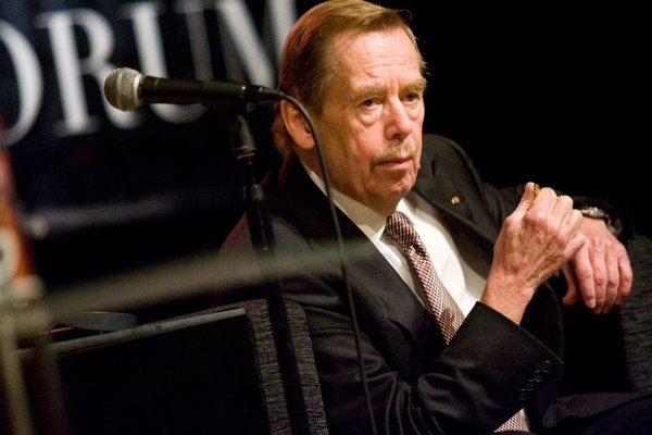 Václav Havel at the Central European Forum.