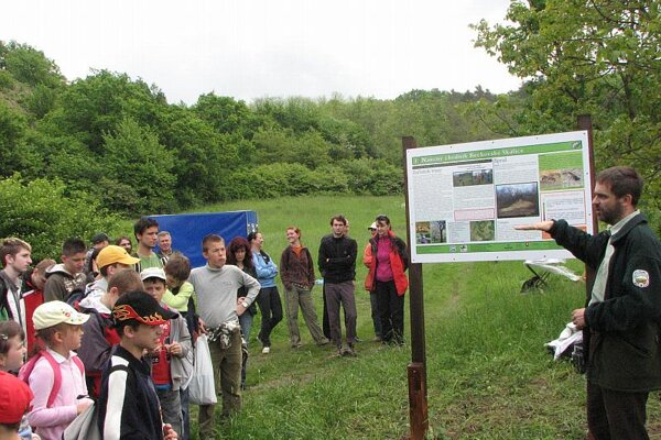 Schoolchildren experience the new trail.
