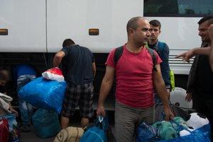 Syrian asylum seekers from Austria in Gabčíkovo