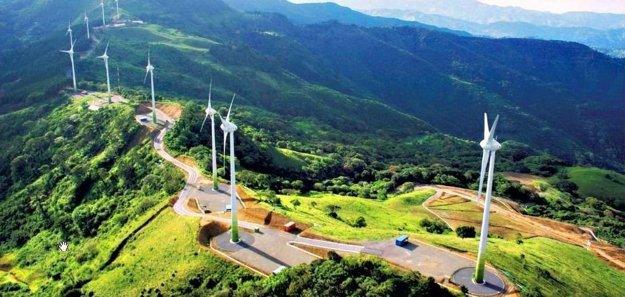 Veterné elektrárne v Kostarike.