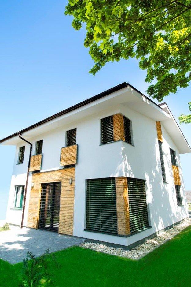 Energeticky pasívna drevostavba v Senci. Realizácia Drevstav Slovakia, foto Knauf Insulation