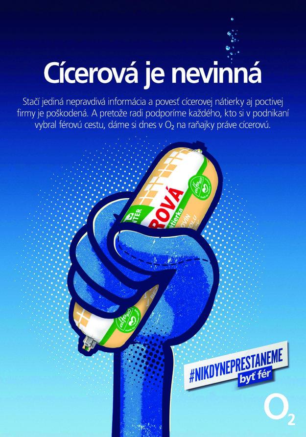 """Takto spoločnosť O2 vyjadrila svoj názor v roku 2015 počas kauzy """"Cícerová""""."""