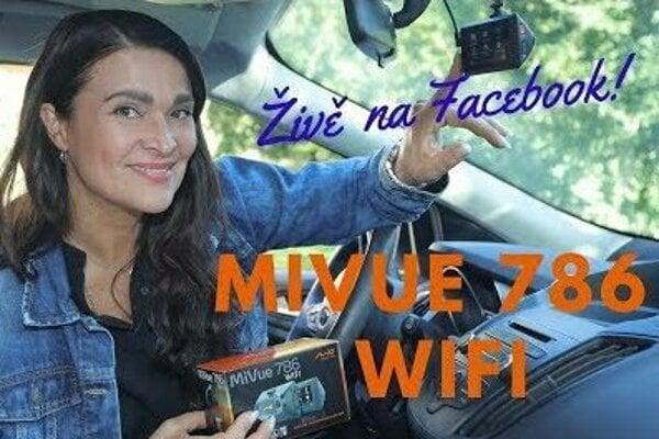 WiFi přenos záznamů do mobilu a na internet během chvíle - autokamera Mio MiVue 786 WiFI!