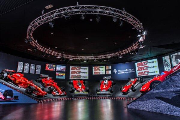 Múzeum Ferrari v meste Maranello