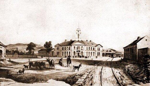 Budova Prvej konskej železnice na dnešnej križovatke ulíc Krížnej a Legionárskej, postavená v rokoch 1836 – 1840.