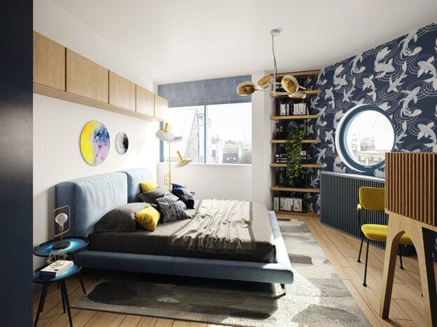 Interiér jedného z apartmánov v projekte BLoKK.