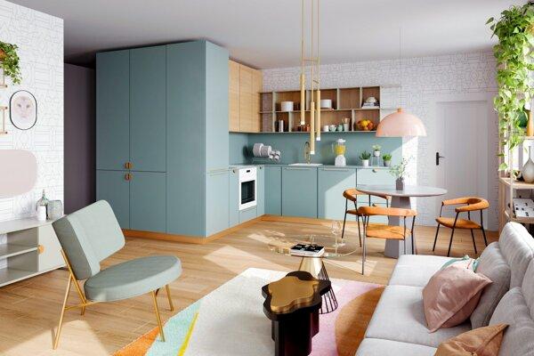 V projekte BLoKK vznikajú apartmány rôznych výmer a dispozícií.