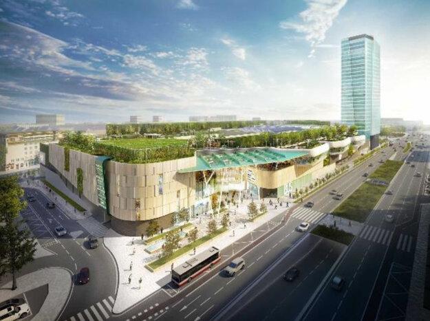 Vizualizácia novej autobusovej stanice. Zdroj: HB Reavis.