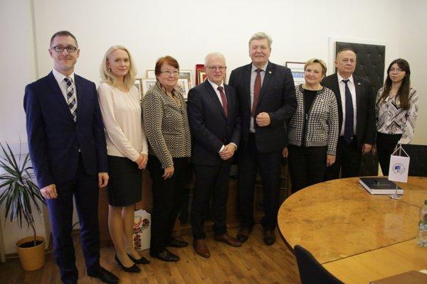 Prijatie delegácie z Kyjevskej národnej ekonomickej univerzity Vadyma Hetmana