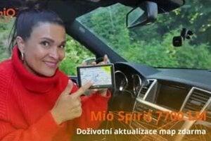Autonavigácie Mio Spirit 7700 s magnetickym držákom