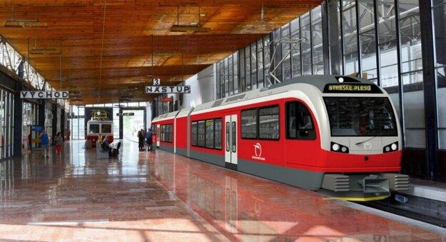 Víťazný návrh bude použitý na elektrických jednotkách v Tatrách aj s uvedením mena autora (vizualizácia)