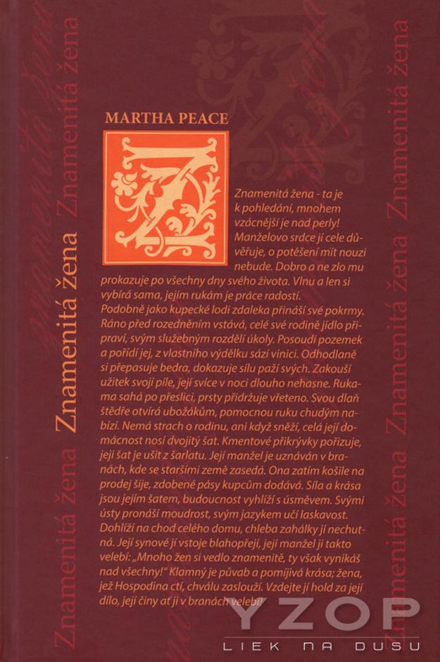 Znamenitá žena - Martha Peace