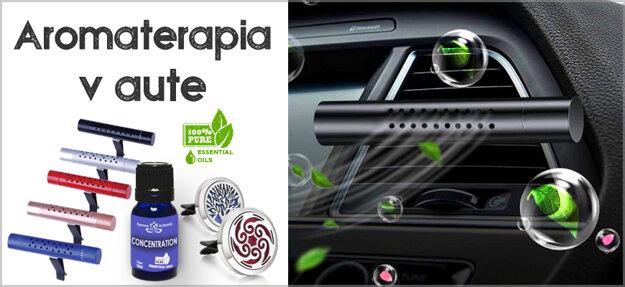 Difuzery esencialnych olejov do auta