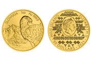 Výnimočná minca Slovenský Orol má na averze spolu s prvkami čičmianského vzoru aj portrét britskej kráľovny Alžbety II.