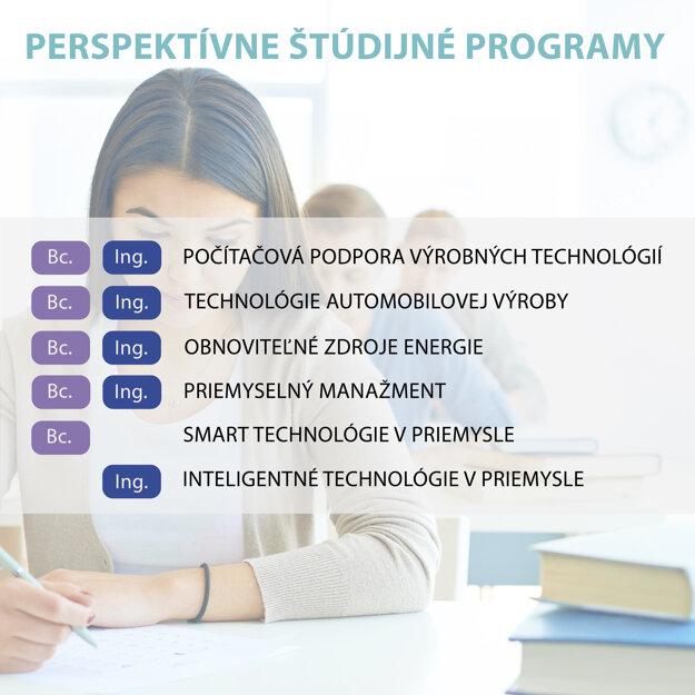Poď študovať perspektívne študijné programy na FVT!