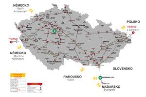 Další část vlastní páteřní optické trasy v úseku Mutěnice – Hodonín