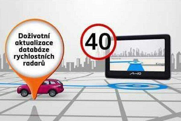 Autonavigace značky Mio s doživotními aktualizacemi map