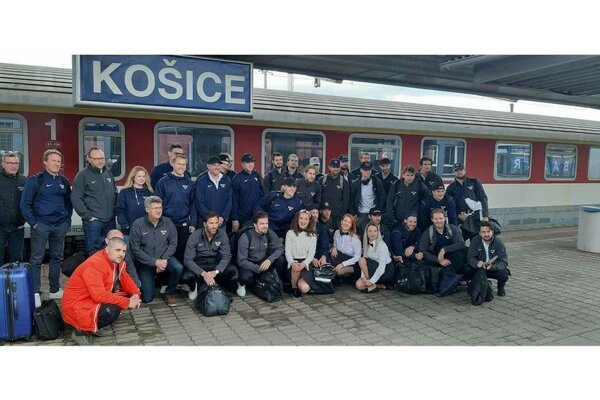 Švédska reprezentácia sa prepravila vlakom z Bratislavy do Košíc