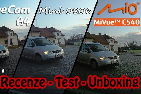 Srovnávací test, v kterém Mio MiVue C540 exceluje!