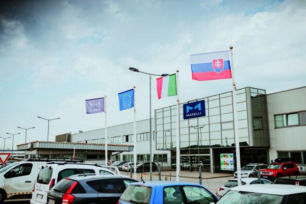 Marelli závod v Kechneci pri Košiciach, v ktorom pracuje viac ako 1000 zamestnancov