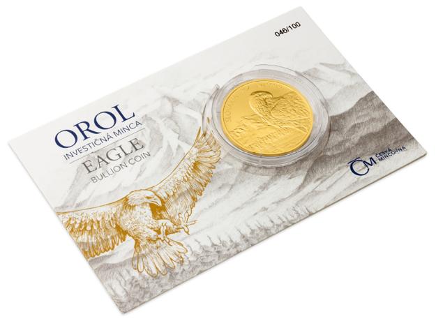 Limitovaná séria investičnej mince Orol je číslovaná  a vo veľmi malej sérii , čo ju robí ešte vzácnejšou.